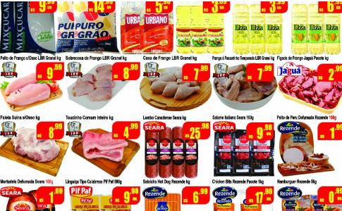 Arraiá de ofertas no Supermercado Rezende & Portugal