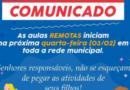 BOM JESUS DO NORTE-COMUNICADO DE VOLTA ÀS AULAS
